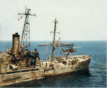 The USS LIberty, one day later. Photo courtesy ussliberty.org