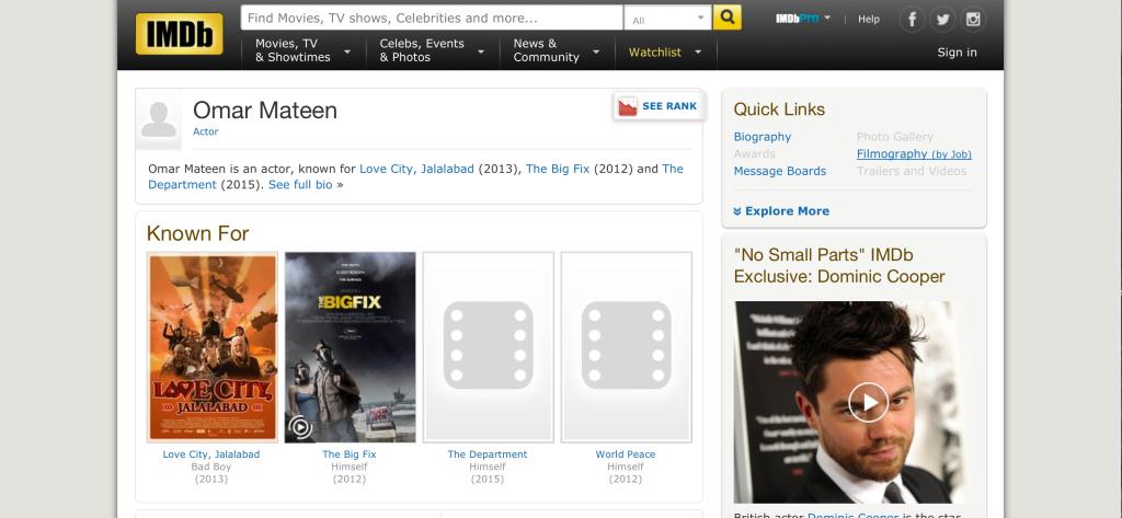 Omar Mateen IMDB