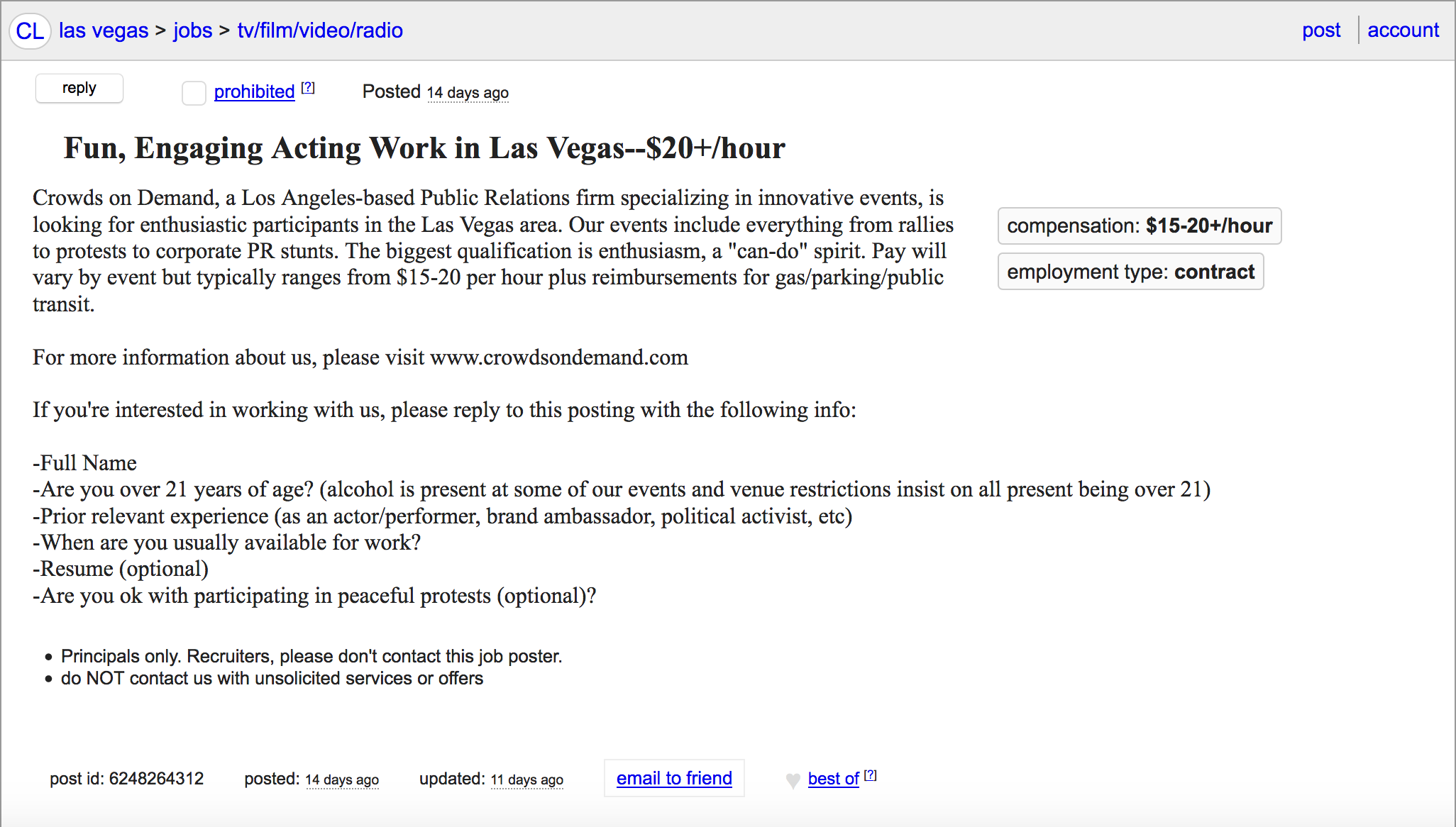 Las vegas women seeking men craigslist